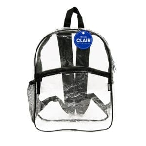 clear school event backpack 17""