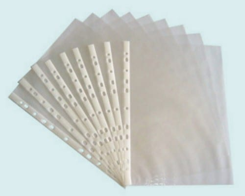 Sheet Protector 8.5 x 11 plastic each