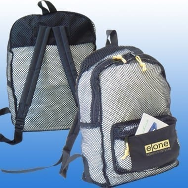 Nylon Mesh See-Thru Backpack