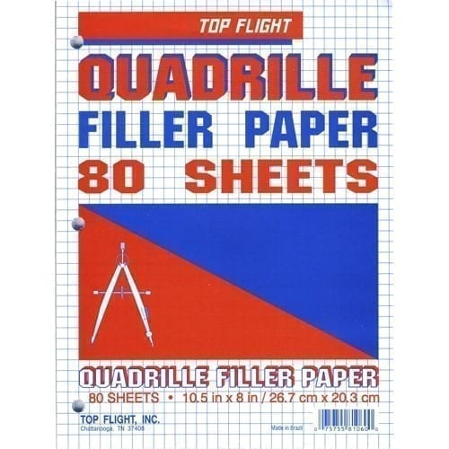 graph paper top flight 80 gr 4 sq in