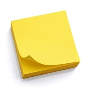 sticky notes post it 100 ct yellow