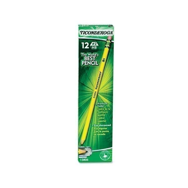 dixon ticonderoga dozen pencil presharpened