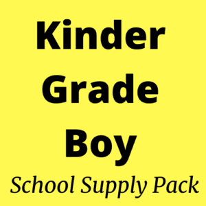 kindergarten boy school supply pack